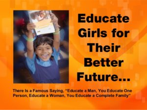 Educate Girls For Their Better Future.